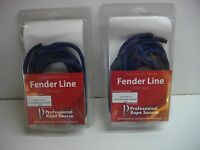 Professional Rope Source 1/4 Inch By 6 Foot Double Braided Navy Blue Fender Line