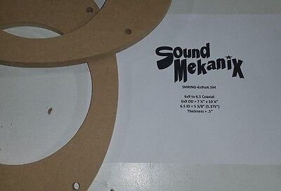 """6x9"""" To 6.5"""" Medium 1/2"""" Adapters One Pair Usa Factory Direct Selling Price Spacer Rings Mdf Speaker"""
