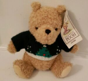 Disney-Classic-Winnie-the-Pooh-Gund-Plush-in-Christmas-Sweater-With-Hang-Tag