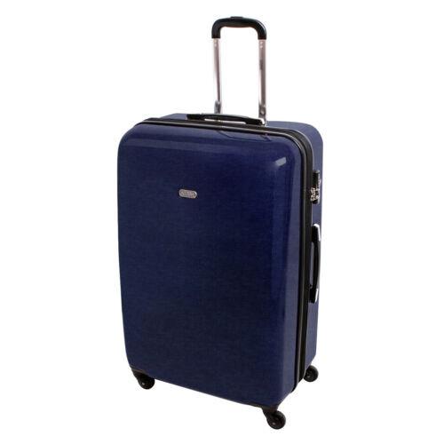 XXL coque rigide Valise voyage trolley valise de voyage 4 rouleaux jeans denim 820