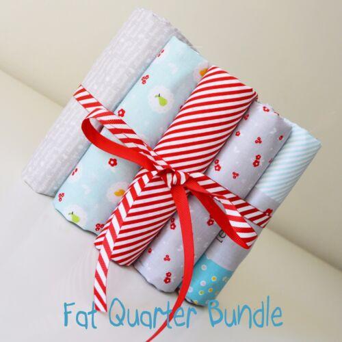5 x FAT QUARTER BUNDLE  Riley Blake Sweet Orchard 100/% Cotton Fabric Fruit Strip