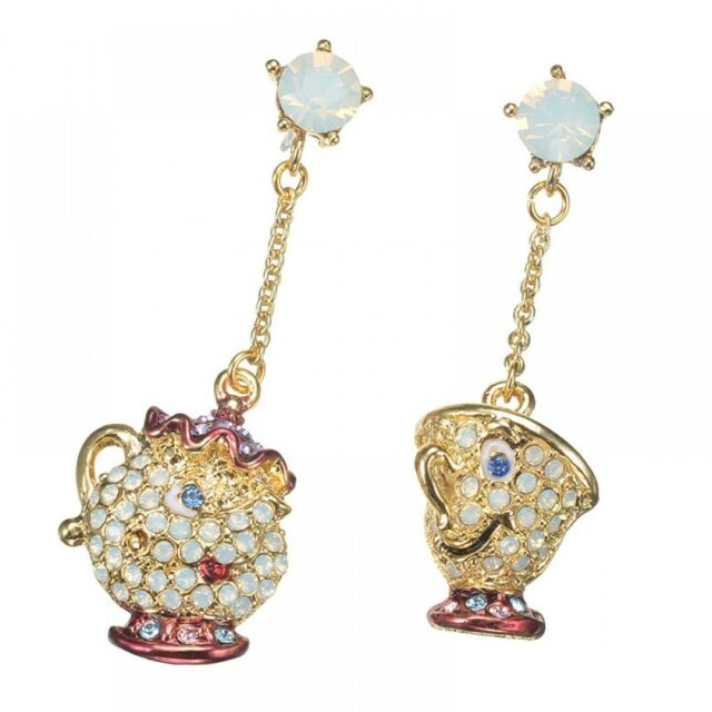 bc9c7350b ABISTE × Disney Store Mrs. Potts and Chip Piercing Earrings beauty and the  beast