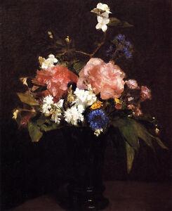 Art-beautiful-Oil-painting-Latour-nice-flowers-still-life-in-vase-canvas