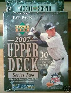 New 2007 UD Upperdeck Series 2 MLB Baseball Fat Pack