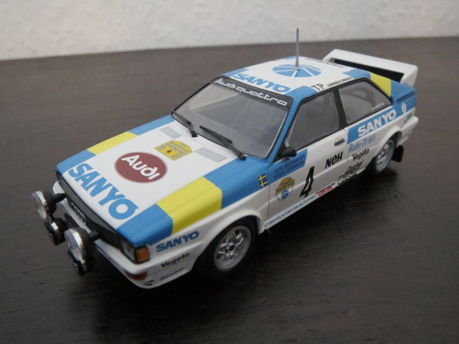 RARITÄT  PMA Minichamps Audi Coupé Quattro Rally,  4  Sanyo , 1 43, TOP
