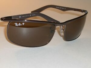 f64134c8c6 RAY-BAN RB3459 014 57 3P 62  17MM BROWN CRYSTAL POLARIZED METAL WRAP ...