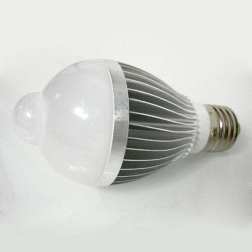 5W E27 Auto PIR Infrared Motion Sensor Detection White LED Bulb Light Lamp Hot