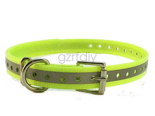 1″ Reflective Dark Green for Garmin  DC40 GPS Dog tracking collar for big dog