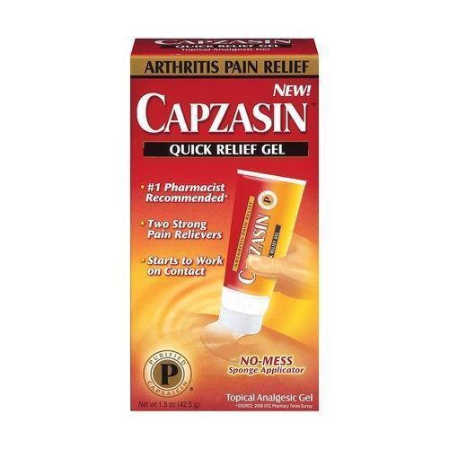 Capzasin Arthrite Soulagement Douleur, Rapide Relief Gel 44.4ml (42.5 G) Chaque