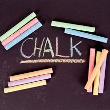 12 X Black Board CHALK SET FOR KIDS  MULTI COLORED WHITE AND STICKS ART