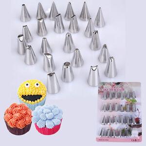 48Pcs//Set Icing Piping Nozzles Tips Cake Cupcake Sugarcraft Decorating Tool DIY