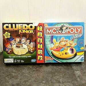 Bundle-Of-2x-Hasbro-Kids-Board-Games-Monopoly-Junior-amp-Cluedo-Junior-Complete