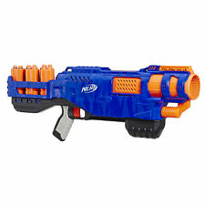 Official Nerf Elite Trilogy DS-15 Toy Blaster, 15 Nerf Elite Darts and 5 Shells