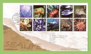 Conjunto-de-Graham-Brown-2007-Sealife-Royal-Mail-primer-dia-cubierta-tallents-House