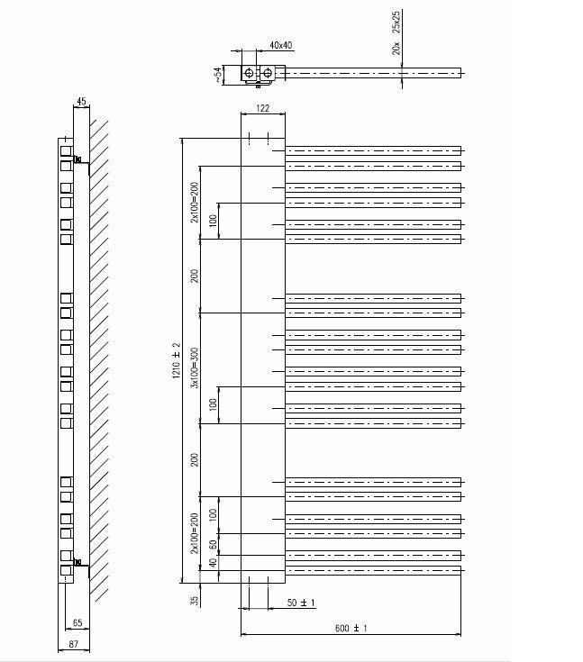 Badheizkörper 600x1210 600x1210 600x1210 mm, 642 W, WEISS a0f98a