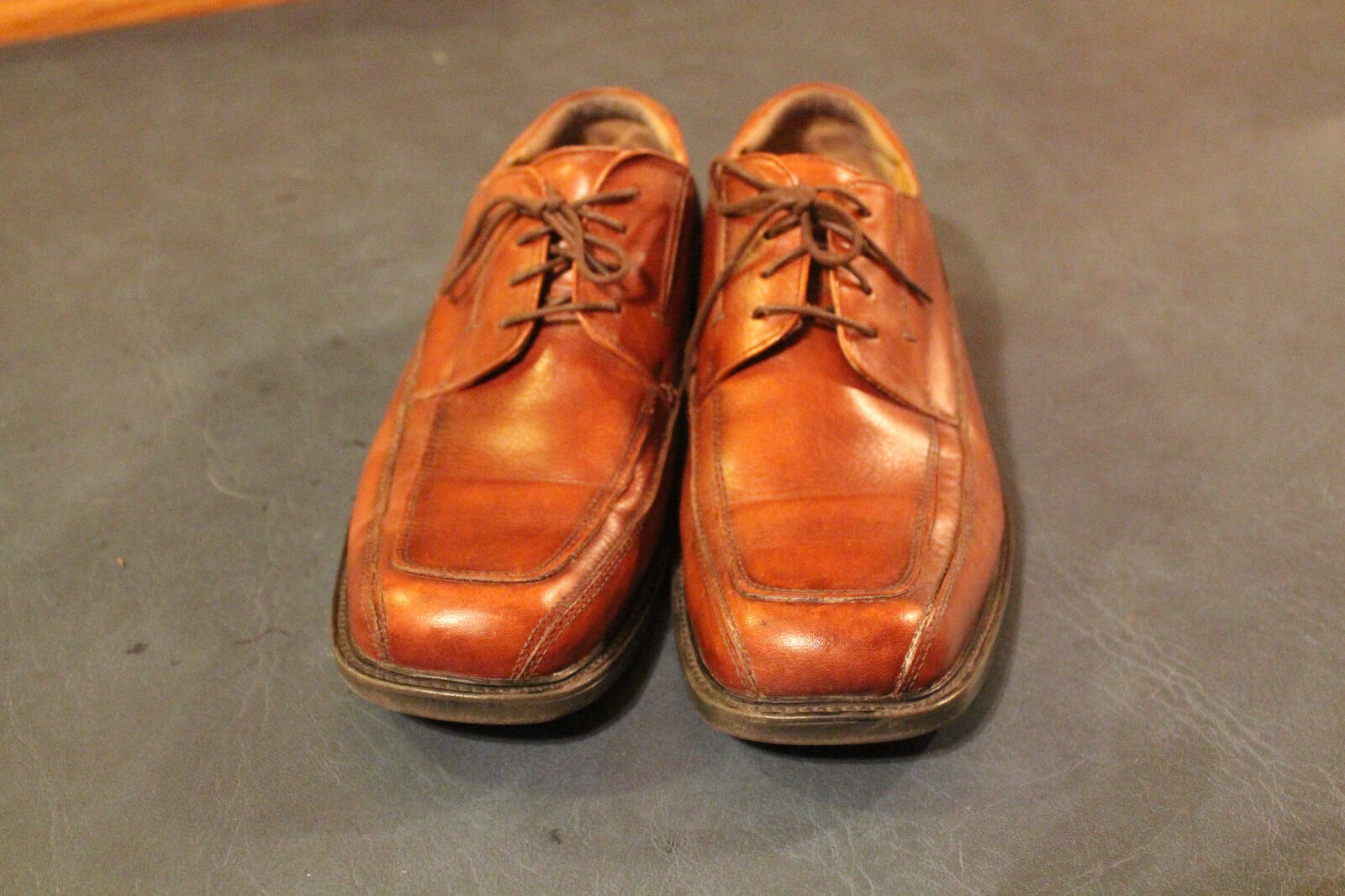DOCKERS MENS PRO STYLE BROWN LEATHER DRESS OXFORD SHOES STYLE size 9.5M 090-3173