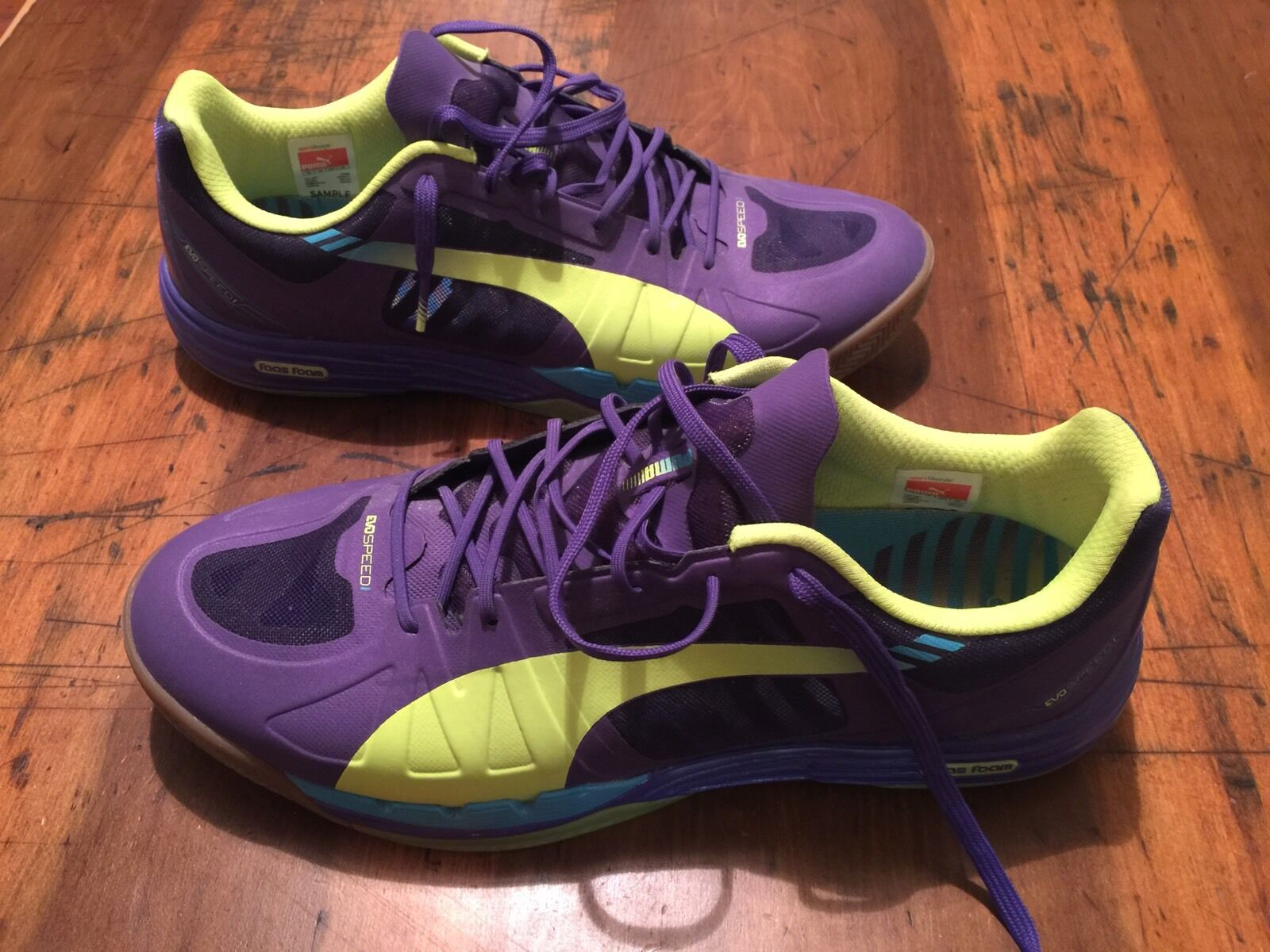 bd4ac7e3e Puma EvoSpeed Sala Athletic Indoor Soccer shoes Sneaker Purple Mens 11