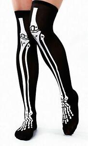 Overknee-Skelett-Uberkniestruempfe-Damen