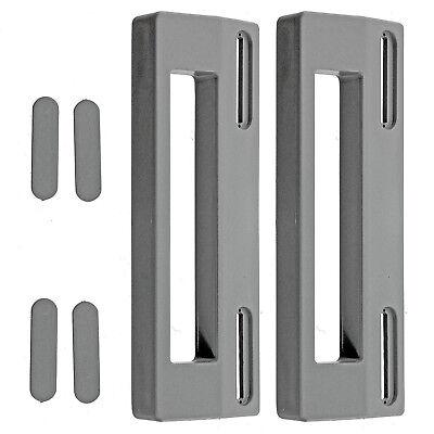 2 x Silver Grey Door Handle For Smeg Refrigerator Fridge Freezer 190mm