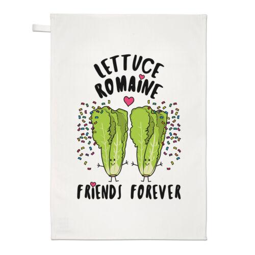 LAITUE ROMAINE Friends Forever Thé Serviette Plat Tissu-Drôle de meilleure Blague