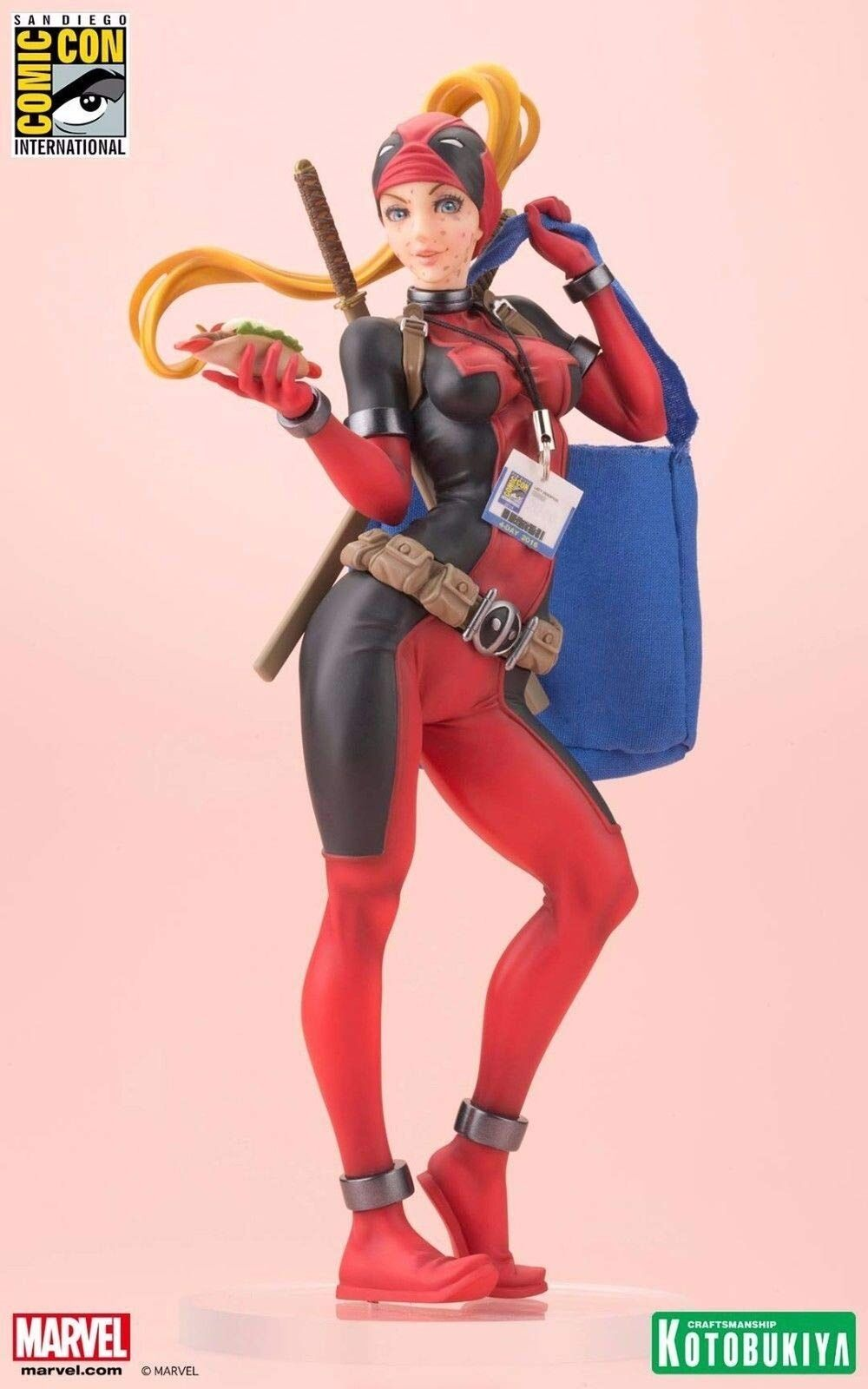 Exklusive kotobukiya marvel bishoujo sdcc 2016 lady fr deadpool statue