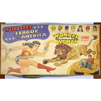 Justice League Of America - WONDER WOMAN GAME Hasbro 1967 Complete & Rare