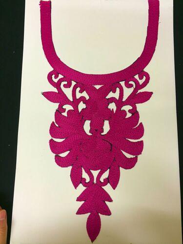 Embroidered Neck//Gala//Applique Set 7 Colours