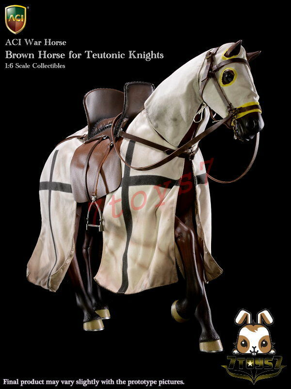 ACI Toys 1 6 H03B War Horse for Teutonic Knight  Brown_ Box Set _Medieval AT093X