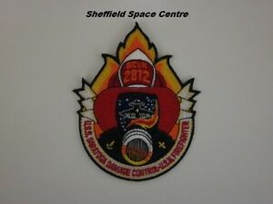 Space-Above-amp-Beyond-USS-Saratoga-Damage-Control-USM-Firefighter-Patch-P272