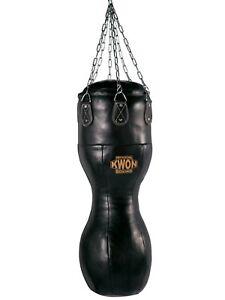 Kwon Hook Leder Sandsack 100 cm gefüllt. Echt Leder,  Kickboxen, Boxen, MMA,