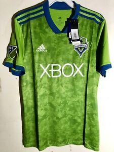 Adidas-Mls-Jersey-Seattle-Sounders-Equipe-Vert-Sz-3XL