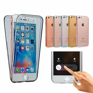 san francisco 324d0 d4300 Details about Ultra Thin 360 Degree Protective Silicone Case Cover for  Apple iPhone 6 & 7 Plus