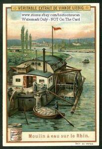 River-Current-Grinding-Mill-Mulin-A-Eau-Rhein-Germany-c1905-Trade-Ad-Card