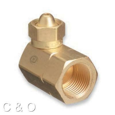 Converts smaller acetylene tank to larger regulator Adapter CGA 200 To CGA 510