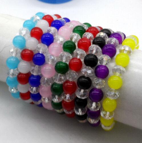 Free Ship New verre 1pcs perles cristal bracelets Lucky Charms Bracelet Cadeau