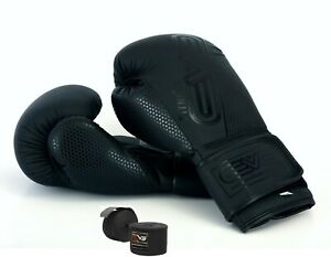 EVO-Maya-Leather-GEL-Boxing-Gloves-MMA-Punch-Bag-Sparring-Muay-Thai-Fight-Train