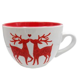 Signature-Housewares-Room-Creative-RED-DEER-Soup-Mug-Christmas-Oversized-Heart