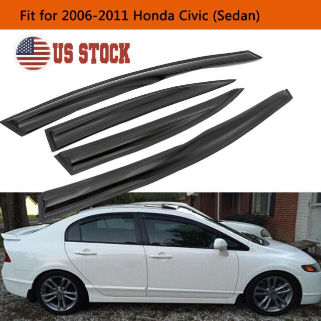 For Honda Civic 4Dr 2006-2011 Mugen Window Vent Visor Weather Shield Deflector
