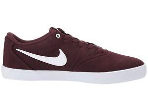 319255c98 Men s Nike SB Check Solar Canvas Shoes - Burgundy Crush White ...