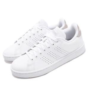 189f9b1dc75f8 Image is loading adidas-Advantage-White-Grey-Women-Classic-Casual-Lifestyle-