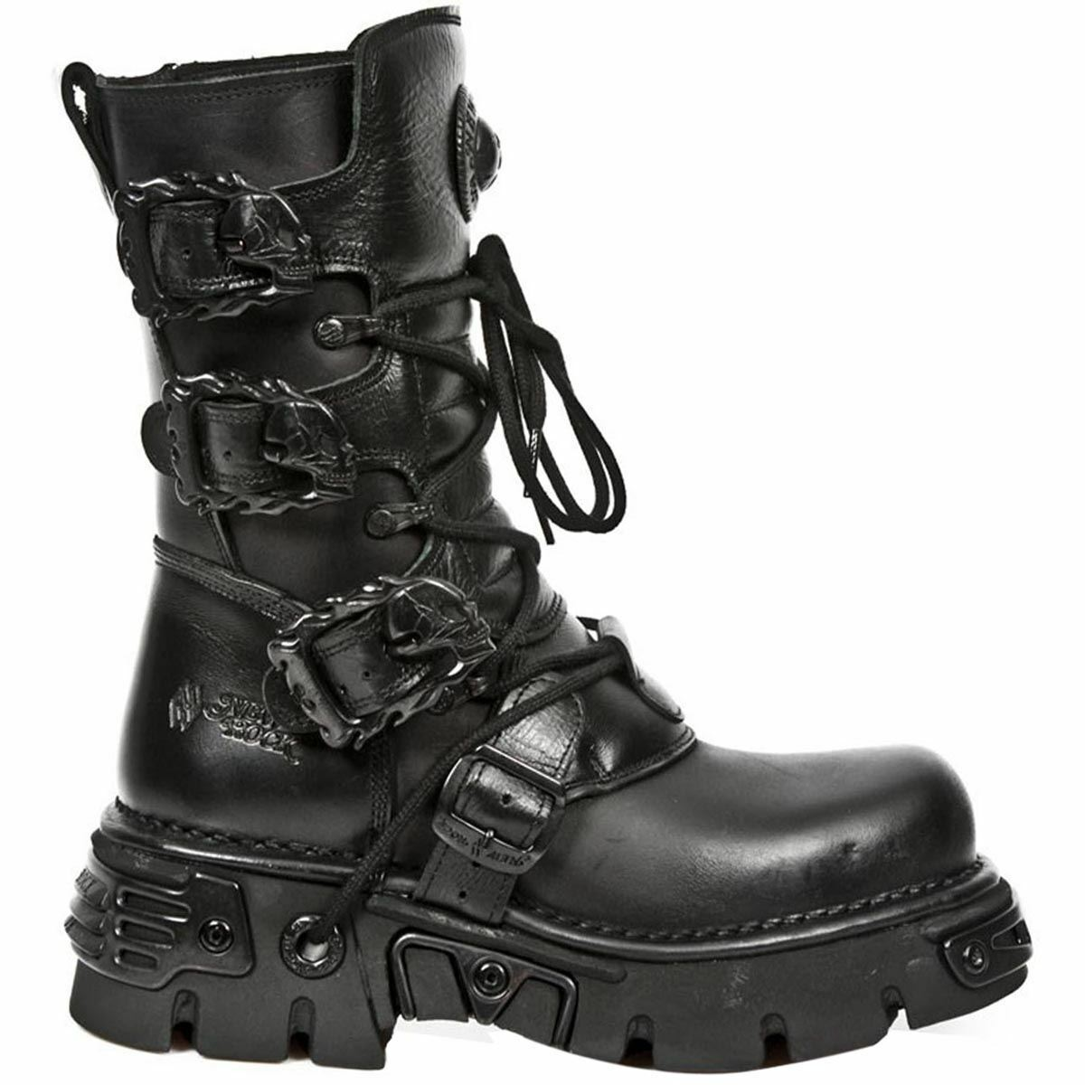 New Rock Oxido M 391 Gothic Black Womens Boots