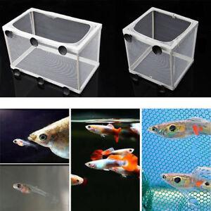 Aquarium-Fish-Tank-Guppy-Baby-Breeder-Breeding-Fry-Net-Gauze-Trap-Box-Hatchery