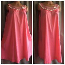 "Vintage 1950s Gossard Artemis Gown Pink Nylon Babydoll Nightgown W Chiffon 40"""