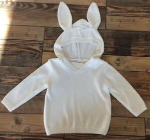 Gymboree Easter Sweater Bunny Ears White Pullover Baby Boy Or Girl