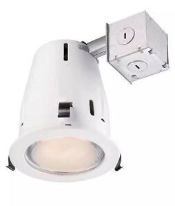 Details About Commercial Electric Recessed Lighting 4 In White Shower Cer4g24r463whp