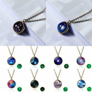 Glow-In-the-Dark-Universe-Nebula-Space-Ball-Glass-Pendant-Necklace-Women-Jewelry