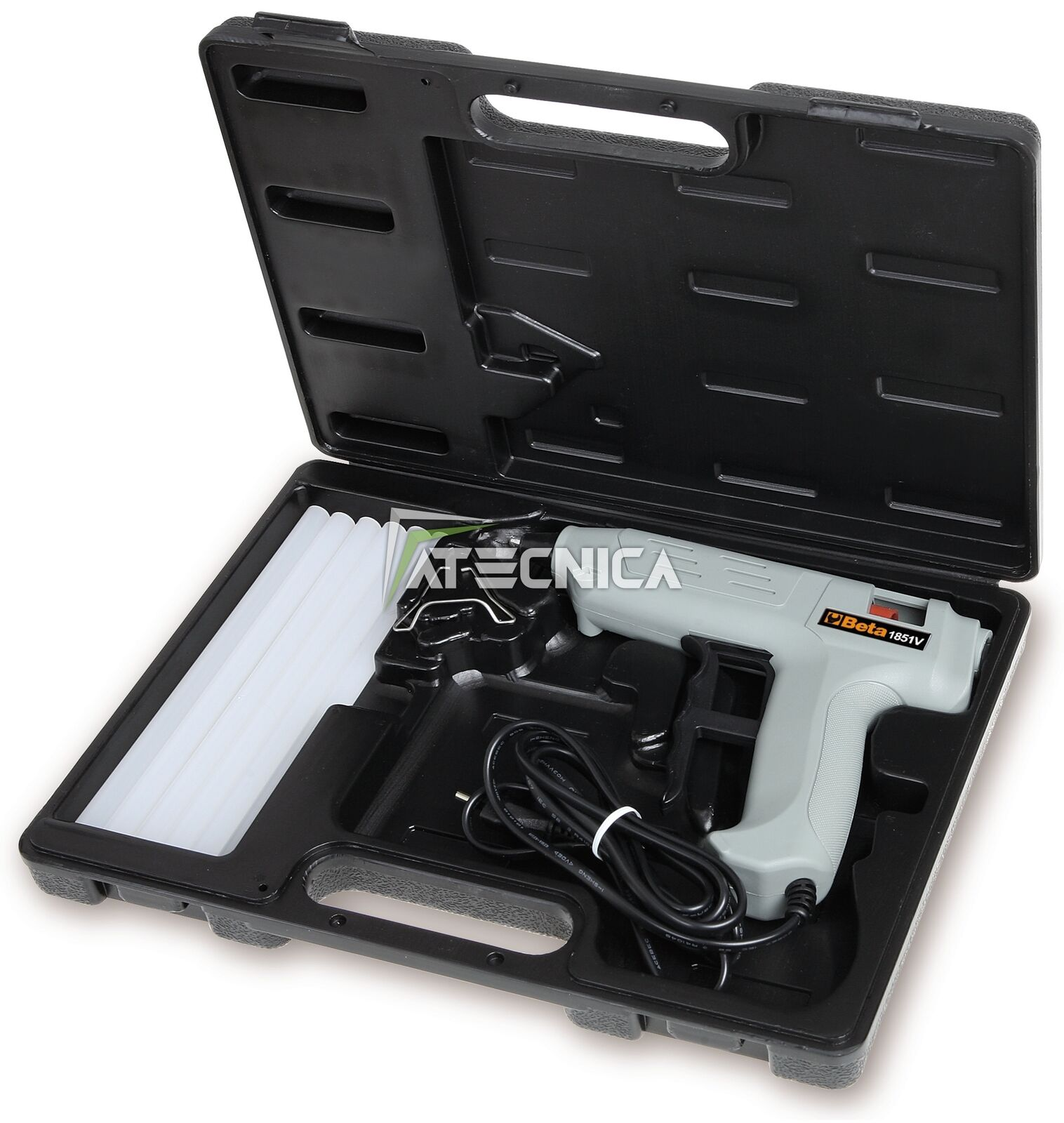 Pistola pegamento caliente beta tools 1851vk en valija 12 palillo recarga