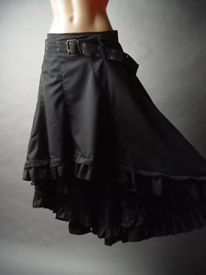 Steampunk Victorian Peasant Boho Bustle Petticoat Long Bubble 236 mv Skirt S M L