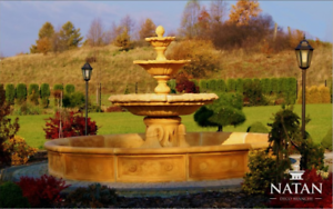 Fontaine-Vasca-Fontana-Decorata-a-Getto-Giardino-Scultura-Citta-Stagno
