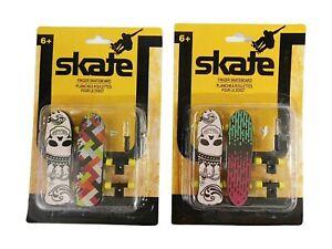 Lot 2 New Sealed Skate Finger Skateboards With Tools 4 Total Skateboards Play